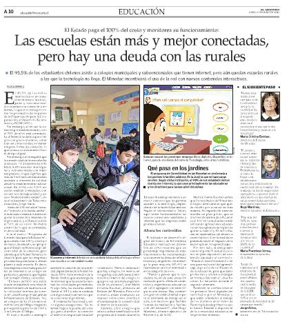 """Entrevista """"Las escuelas están más y mejor conectadas, pero hay una deuda con las rurales"""""""
