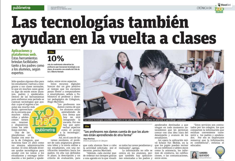 """Entrevista """"Las Tecnologías también ayudan en la vuelta a clases"""""""