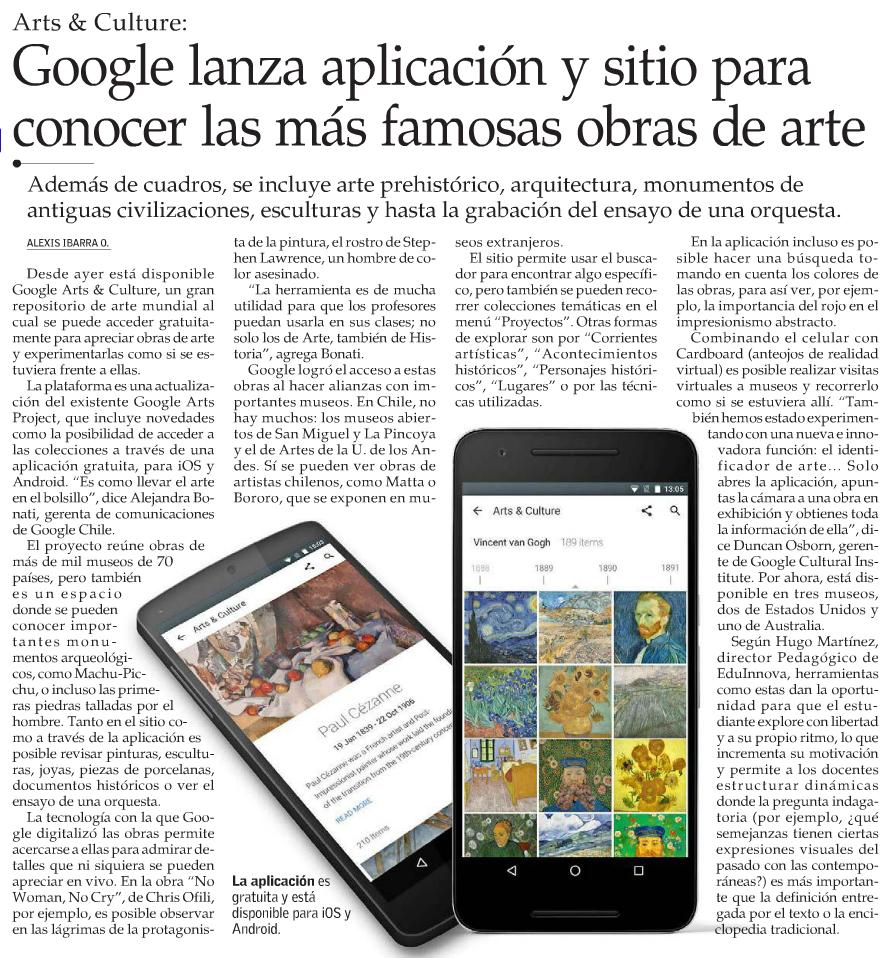 Entrevista sobre Google Arts & Cultura