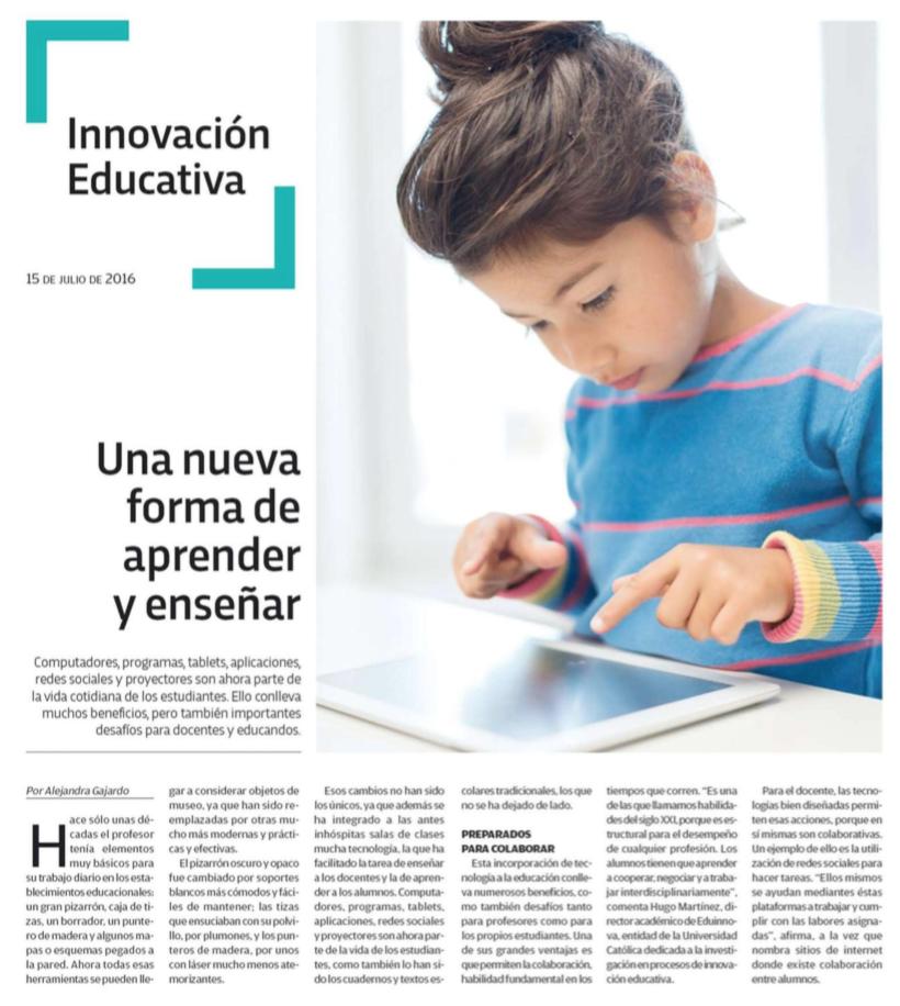 Entrevista sobre Nuevas Formas de Aprender y Enseñar